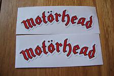 "2  MOTORHEAD 4"" STICKERS MUSIC GUITAR MOTORBIKE HELMETS   TT IOM"