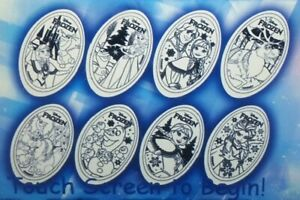 First-Time-In-Forever-Frozen-Complete-Set-Of-Eight-Souvenir-Pressed-Pennies