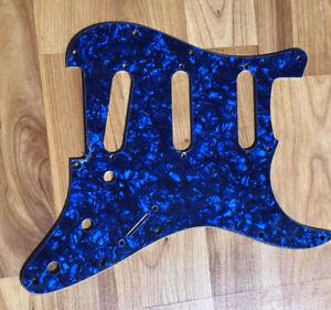 NEW-Blue-Pearloid-SSS-Stratocaster-PICKGUARD-for-Fender-Strat-Single-Coil-Pickup
