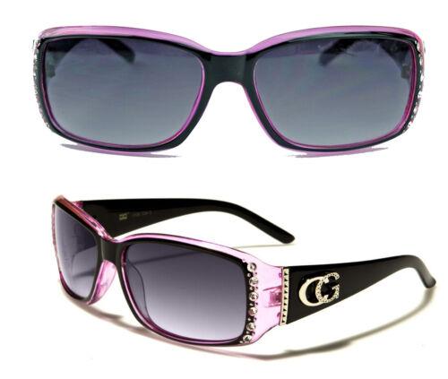 Damen Sonnenbrille im Designer Fashion Stil Strass Glitzersteine Bling Bling