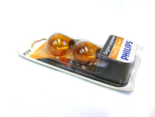 Philips Vision PY21W Intermitente Delante/Intermitente Trasero Bombillas 12496B2