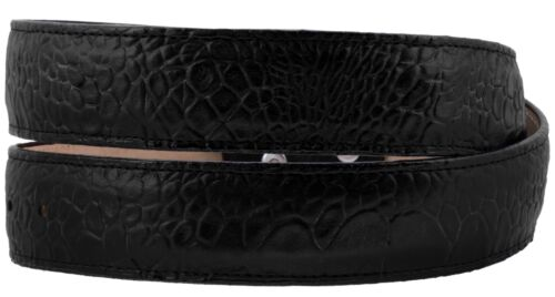 Mens Black Sea Turtle Pattern Cowboy Belt Genuine Leather Removable Buckle Cinto