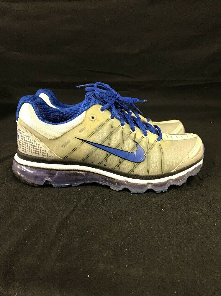 NIKE AIR MAX Running Shoes Blue/Silver/Gray SIZE 9