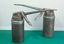 Pair of vintage Wesco oil cans classic cars / bikes.Unusual design.