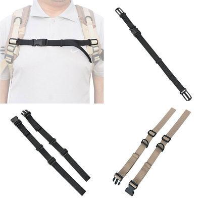 1 Pair Adjustable Backpack Rucksack Webbing Sternum Chest Harness Buckle Strap