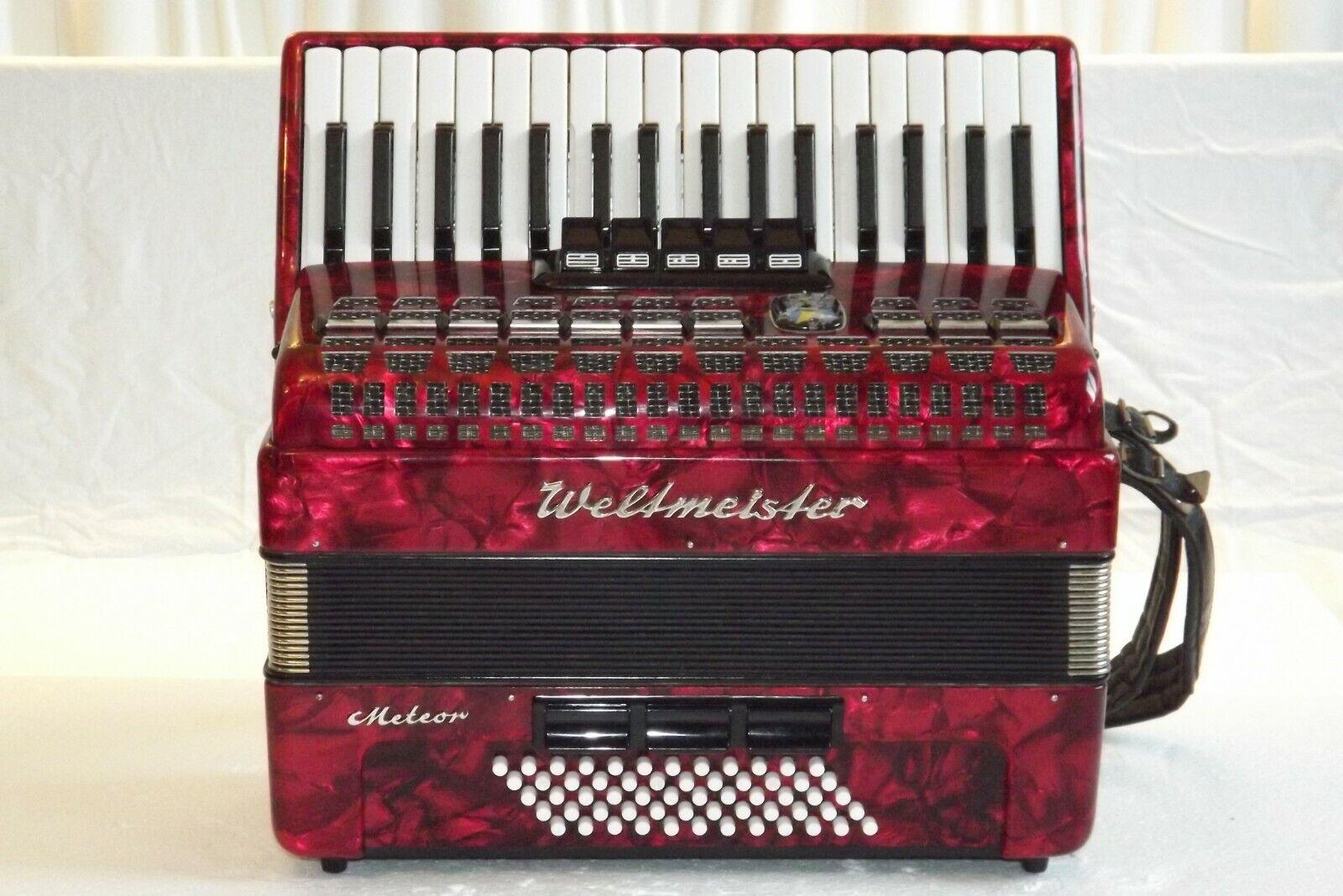 Piano accordion akkordeon fisarmonika WELTMEISTER  METEOR  60 bass