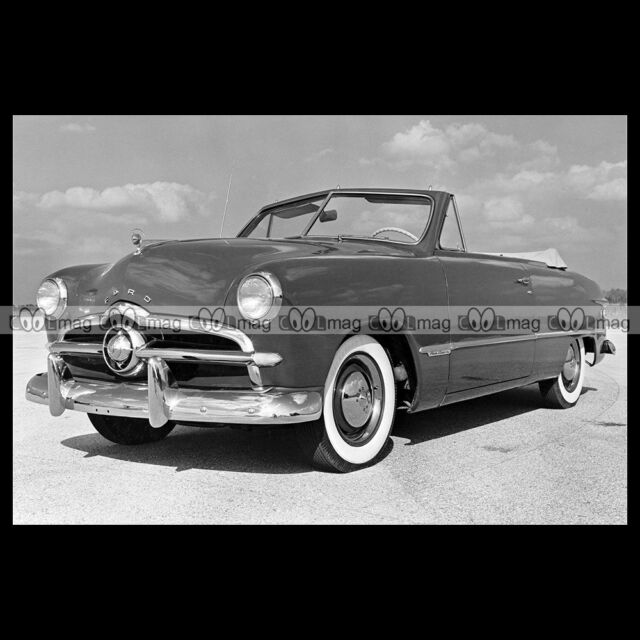#pha.007586 Photo FORD CUSTOM CONVERTIBLE COUPE 1949 Car Auto