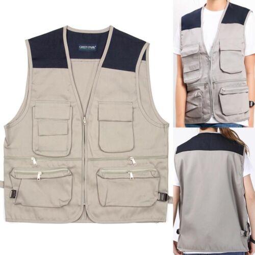 Homme de travail sans manches outil gilet workwear veste sans manches multi poche gilet veste gilet
