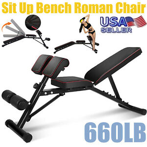 Sit Up Bench Decline Abdominal Fitness Home Gym Exercise Workout Equipment USA