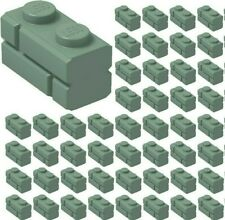 Lego 10x Brique Brick Modified 1x2 Masonry briquette vert sand green 98283 NEW