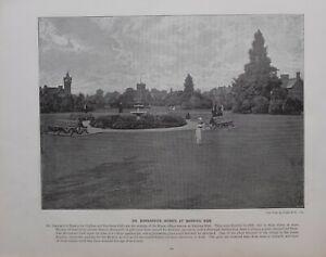 1896 Londres Estampado + Texto Dr. BARNARDO'S Homes At Barking Lado Orphan &