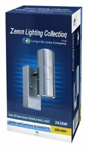Long Life Lamp Company ZLC0203DTD Stainless Steel Outdoor Up and Down Wall Light