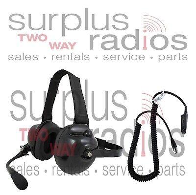 NEW PRYME DUAL MUFF RACING HEADSET MOTOROLA HT750 HT1250 HT1250LS MTX850 MTX950