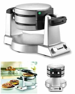 Hotel-Belgian-Waffle-Iron-Maker-Rotating-Double-Baker-Pan-Commercial-Machine-New