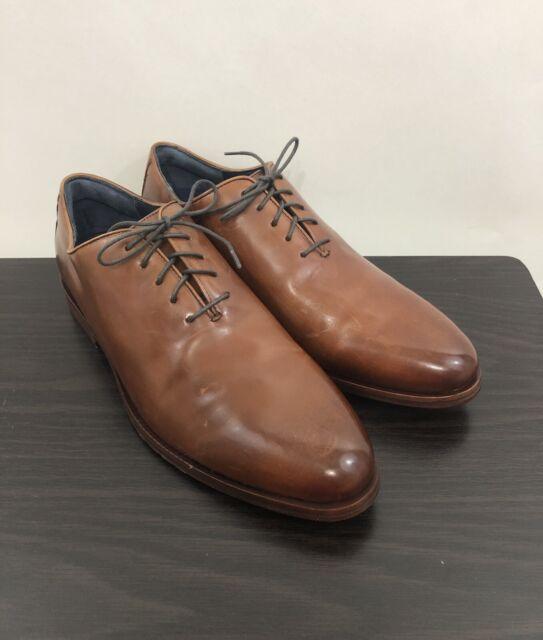 Cole Haan Mens Washington Grand Wholecut Oxford British Tan Leather Color Sze 11