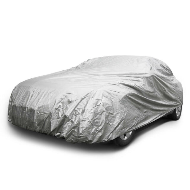 Universal Ice Wind Dust Resistant Waterproof Outdoor Car Cover Gray Fits Sedan