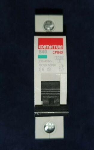 Contactum CPB40 B40 40 Amp unipolar Reja de desminado nuevo