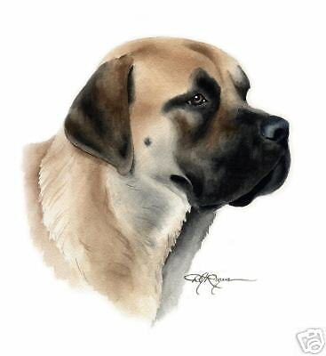 ENGLISH MASTIFF Dog Painting ART 11 X 14 by Artist DJR