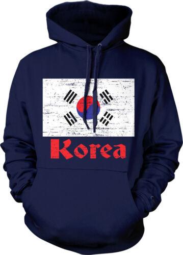 Korean Pride  Hoodie Pullover Korea Distressed Country Flag