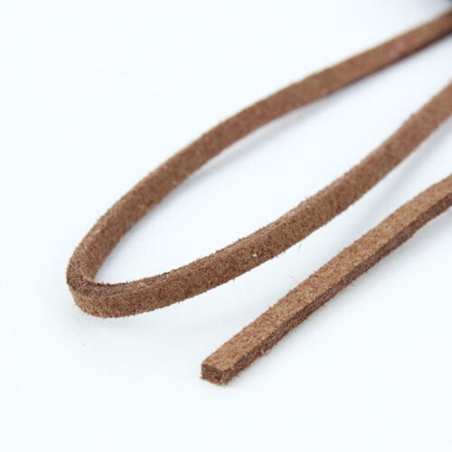 5M Faux Suede Cord Leather Lace Velvet Thread For Bracelet Necklace Craft 3.0MM