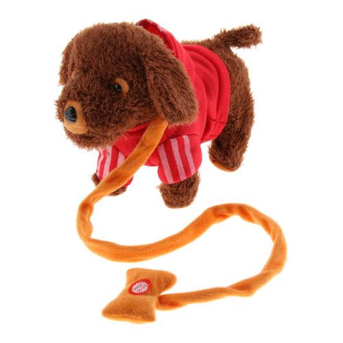 Baby Soft Plush Toy Electronic Pet Leash Remote Control Walking Barking Dog