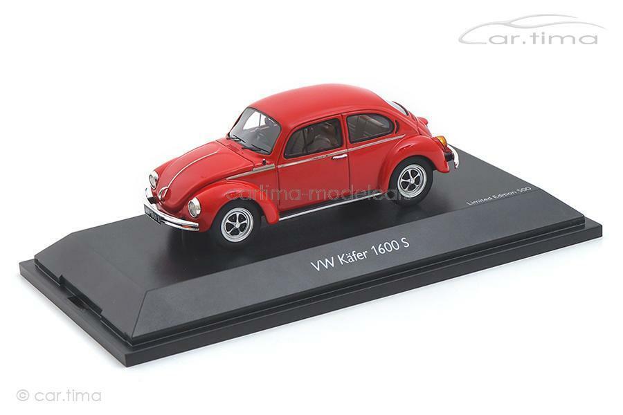 VW Käfer 1600-S Super-Bug rot - Schuco 1 43 450903900