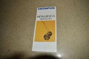 <JM> OLYMPUS METALLURGICAL MICROSCOPES MANUAL (IC29)