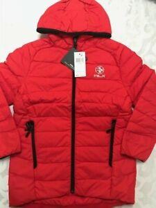 New Ralph Lauren RLX red orange Puffer hoody jacket boys size 7 $145