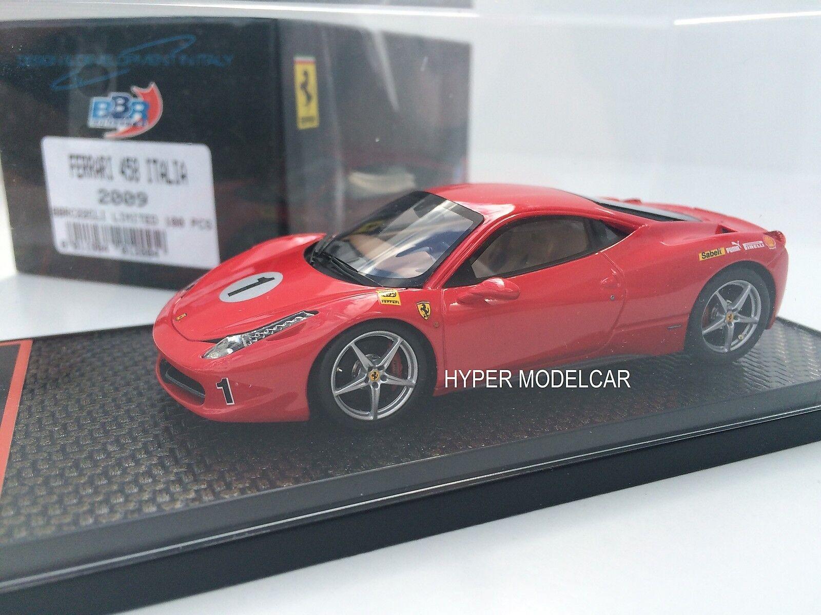 BBR Model 1 43 Ferrari 458 Italia 8C  1 Piloti Ferrari 2010  rojo  BBRC22CLI