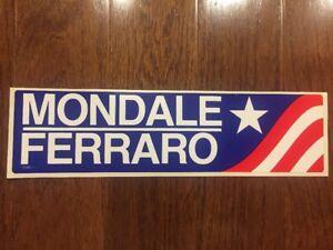 1984-Walter-Mondale-amp-Geraldine-Ferraro-Presidential-Campaign-Bumper-Sticker