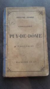 Geografía -de-dôme A. Joanne 1876 Hachette París 15 Impresión ABE