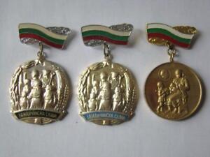 Bulgarien Kommunistische Konvolut von 3 Mutter Ruhm Auszeichnungen, Medaille