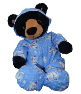 "8"" BLUE SNOWMAN ALL-IN-ONE PJ - TEDDY BEAR CLOTHES FITS 8"" /20cm TEDDY BEARS"