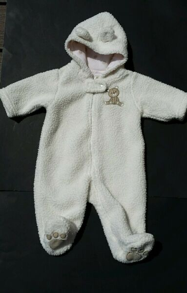 28ca7af8645a Carters Infant 3 Months Sherpa Hooded Bear Bunting Snowsuit Coat ...