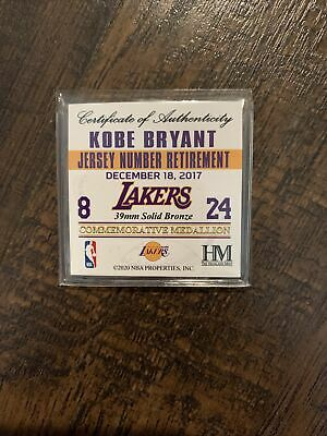 Limited Edition Kobe Bryant Jersey Number Retirement Gold Mint Coins - Sealed   eBay