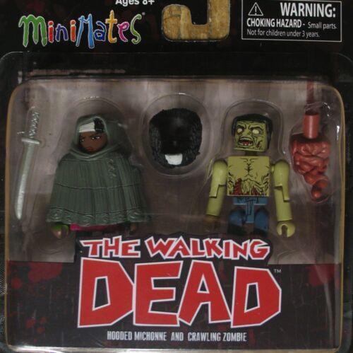 Walking Dead série 4 à capuche Michonne /& ramper zombie minimates TRU