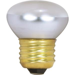 Satco 25W Clear Medium Base R14 Stubby Reflector Incandescent Floodlight Light