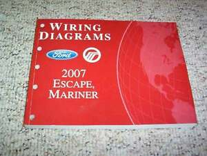 2007 Ford Escape Electrical Wiring Diagram Manual XLS XLT ...  Ford Escape Wiring Diagram on