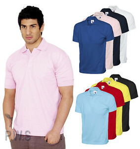 Uneek-Jersey-Polo-Shirt-100-Cotton-Plain-Tee-Unisex-Top-UC122