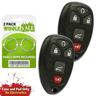 2 Replacement For 2007 2008 2009 2010 Saturn Outlook Key Fob Remote