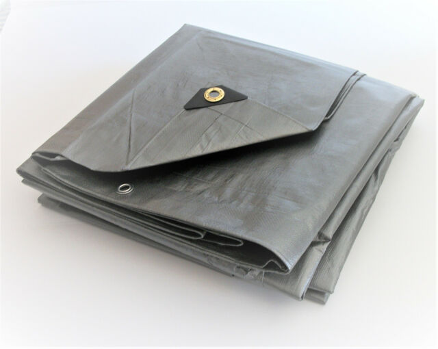 Heavy Duty Silver Tarp 6 OZ. 10x10