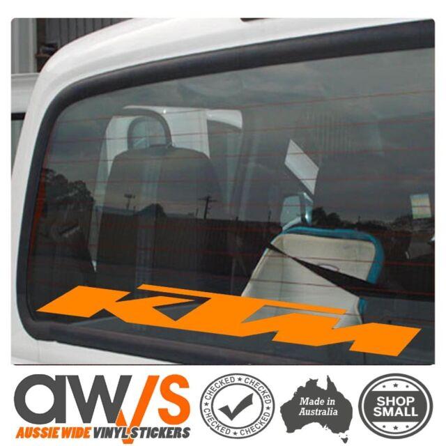 Ktm sticker decal motocross car mx racing window banner large ute van trailer