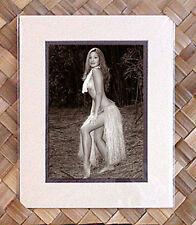 "Kim Taylor Reece ""Ohe Kea"" 8 X 10 Double Matted Hawaiian Hula Print - New"