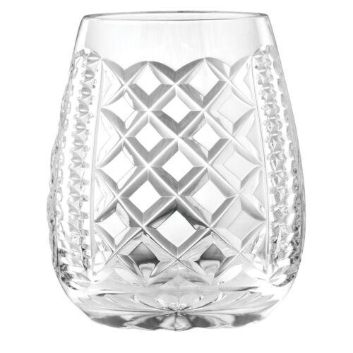 NovaScotian Crystal Stemless Crystal Wine Glass