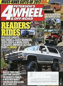 petersen 39 s 4 wheel off road magazine february 2017 1970 suburban 4x4 adventure ebay. Black Bedroom Furniture Sets. Home Design Ideas