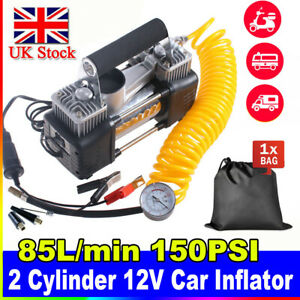 Portable 12v Electric Car Tyre Inflator 150psi Air Compressor Pump Heavy Duty LU