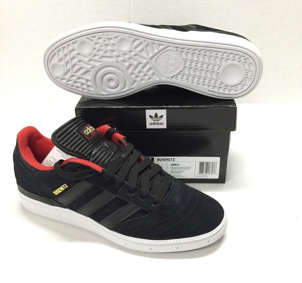 ADIDAS BUSENTIZ #D68823 BLACK / COLLEGIATE RED- WHITE *NEW* Great discount