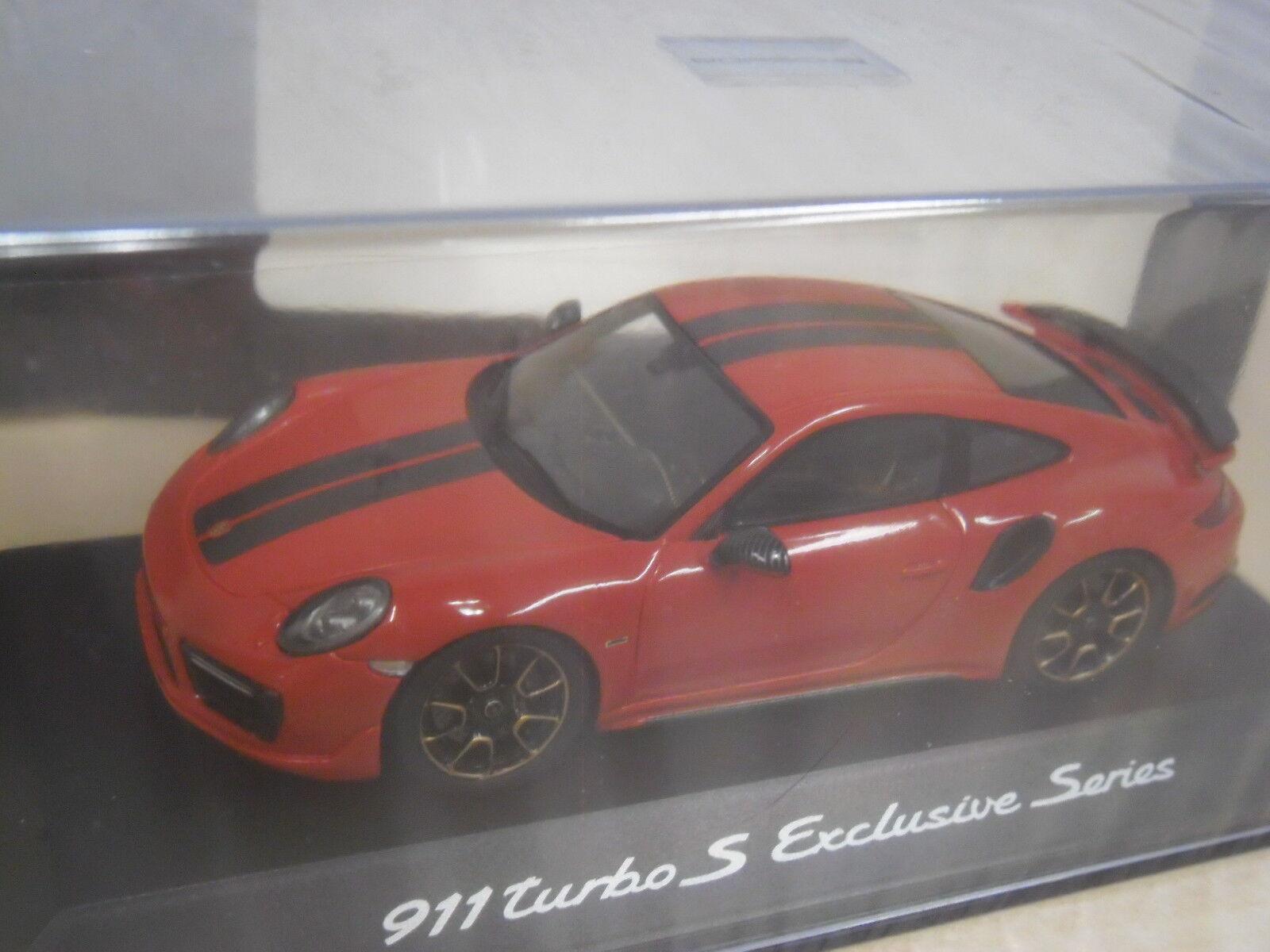Porsche 911 Turbo S (991 II) - Rouge Noir-SPARK wap0209050j - 1 43
