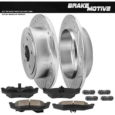 Rear Drilled Brake Rotors Ceramic Pads for Sebring Stratus PT Cruiser Neon