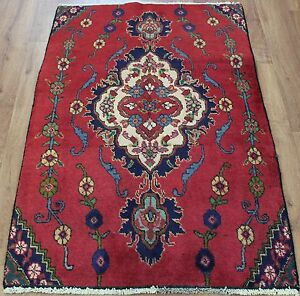 OLD-WOOL-HAND-MADE-PERSIAN-ORIENTAL-FLORAL-RUNNER-AREA-RUG-CARPET-131x85CM